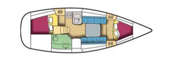 Gibsea 33 Yacht Layout