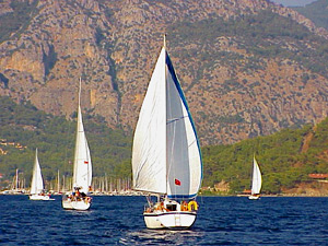The Budget Sailing Turkey fleet on its way back to Göcek